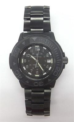 Men's SWW-900 Tritium H3 Basic Round Black on Black Watch - OPEN BOX