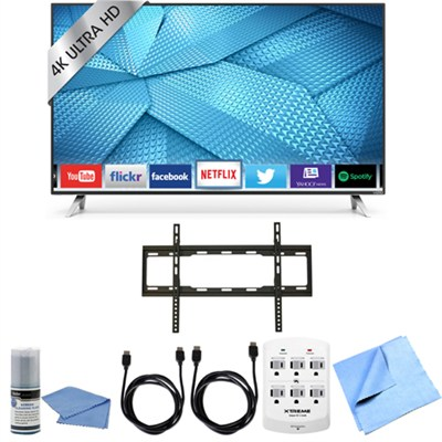 M65-C1 - 65-Inch 240Hz 4K Ultra HD M-Series LED Smart HDTV Flat Mount Bundle