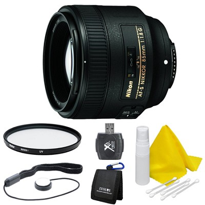 85mm f/1.8G AF-S NIKKOR Lens for Nikon Digital SLR Cameras Deluxe Bundle
