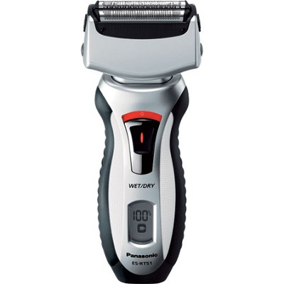 3-Blade Nanotech Wet/Dry Pivoting Rechargeable Silver Head Shaver
