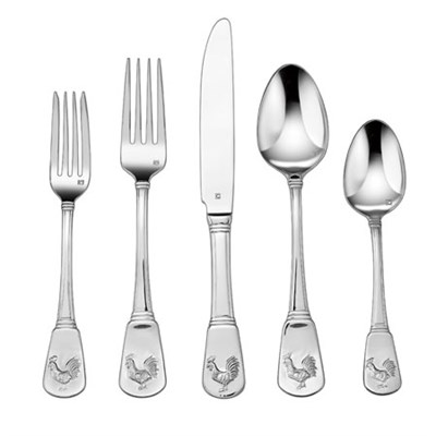 20-Piece Flatware Set, French Rooster