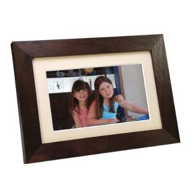 SP700W 7-Inch Digital Picture Frame - Wood Espresso Brown