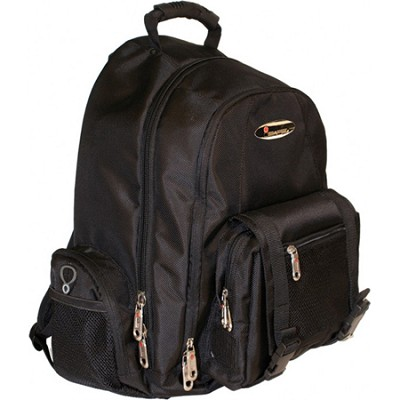 Built-in Alarm Collegiate 15` Laptop Backpack - Black