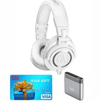 ATH-M50X Professional Studio Headphones w FiiO E6 Amplifier & $30 Visa Gift Card