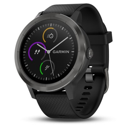 Vivoactive 3 GPS Fitness Smartwatch (Black & Gunmetal) 010-01769-11