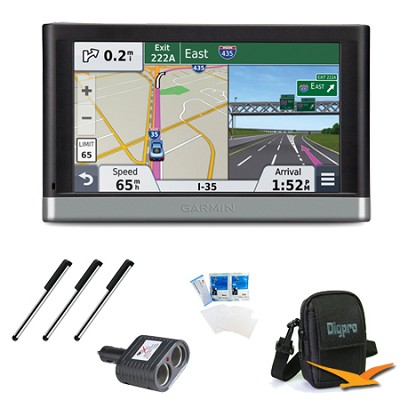 nuvi 2577LT 5` Bluetooth GPS with Lifetime Traffic Updates Essentials Bundle