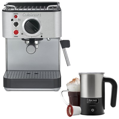 15-Bar Stainless Steel Espresso Maker - Refurbished w/ Aroma Milk Frother