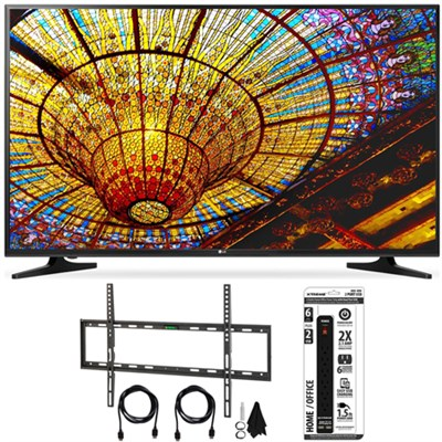 65UH5500 - 65-Inch 4K Ultra HD Smart LED TV w/ webOS 3.0 Flat Wall Mount Bundle