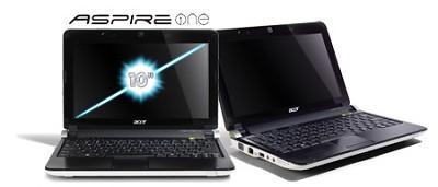 Aspire one 10.1` Netbook PC - White (AOD250-1326)