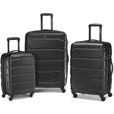 Omni 3 Piece Hardside Luggage Nested Spinner Set (20`/24`/28`) Black -68311-1041