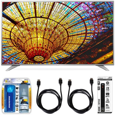 60UH6550 60-Inch 4K UHD Smart TV w/ webOS 3.0 Accessory Bundle