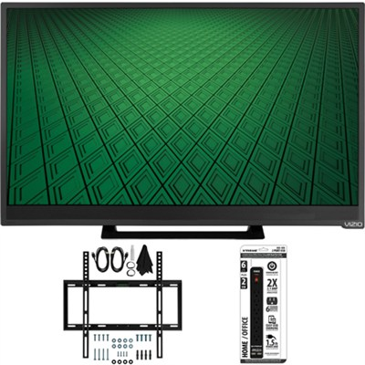 D28hn-D1 - D-Series 28` Class 60Hz 720p LED TV Flat Wall Mount Bundle
