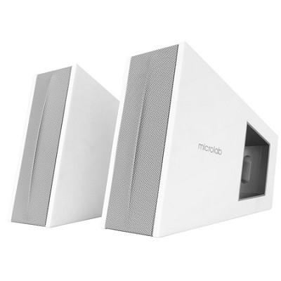 Triangle 2.0 Speaker System w/ Digital Signal Processor (DSP), -White - OPEN BOX