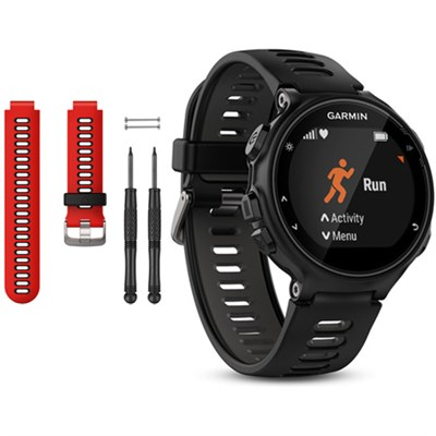 Forerunner 735XT GPS Running Watch with Red Band Bundle - Black/Gray