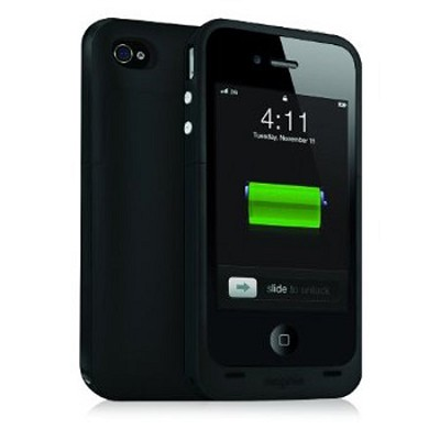 Juice Pack Plus Rechargeable Battery and Case for iPhone4 (Black) - OPEN BOX