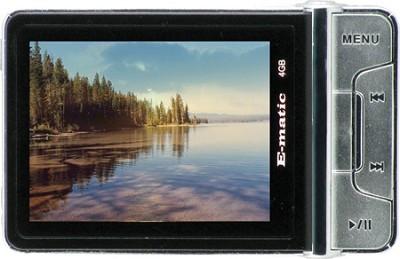 E5 4GB MP3 MP4 Player with Digital Camera - Black