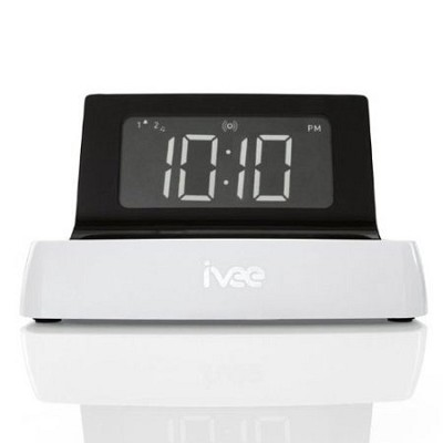 Digit Voice Controlled Talking Alarm Clock ( White ) - OPEN BOX