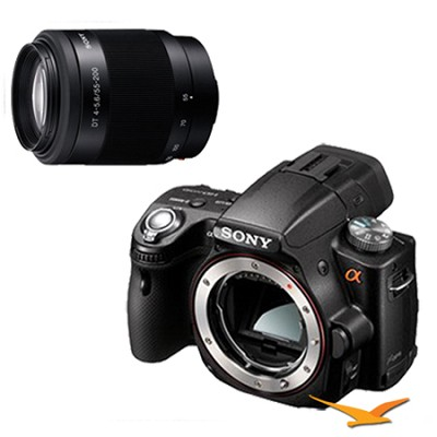Alpha SLT-A55 16.2 MP Digital SLR Body w/ Sony 55-200mm f4-5.6 Tele Zoom Lens