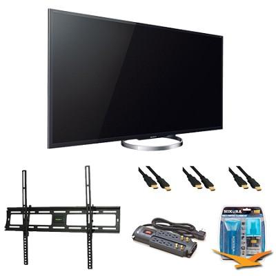 XBR65X850A 65-Inch 4K Ultra HD 120Hz 3D LED HDTV Wall Mount Bundle