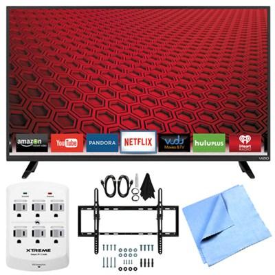 E40-C2 - E-Series 40` 120Hz 1080p Smart LED HDTV Plus Tilt Mount Hook-Up Bundle
