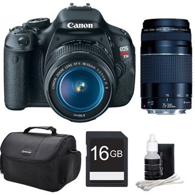 EOS Rebel T3i 18MP Digital SLR Camera with 18-55 & 75-300 Lenses - Bundle Deal
