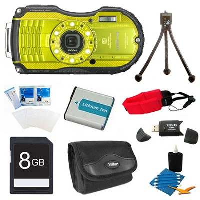 WG-4 16MP HD 1080p Waterproof Digital Camera Lime Yellow 8GB Kit