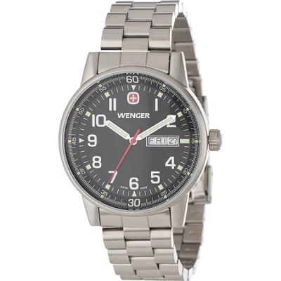 Men's Commando Day Date XL Watch - Black Dial/Stainless Steel Bracelet