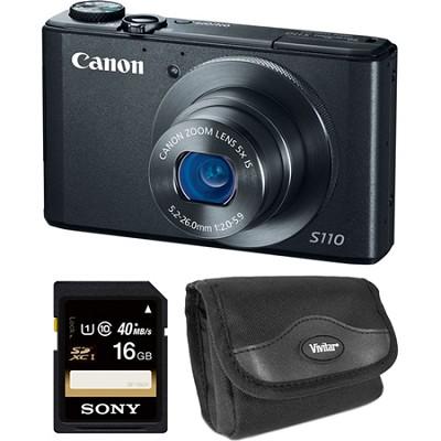 PowerShot S110 Black Compact High Performance Camera 16GB Bundle
