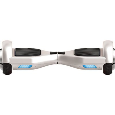 Balancing Horizontal Electric Scooter with Front LED Lights (White)