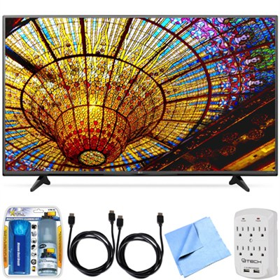 55UF6450 - 55-Inch 4K Ultra HD Smart LED 120Hz TV with webOS 2.0 Bundle