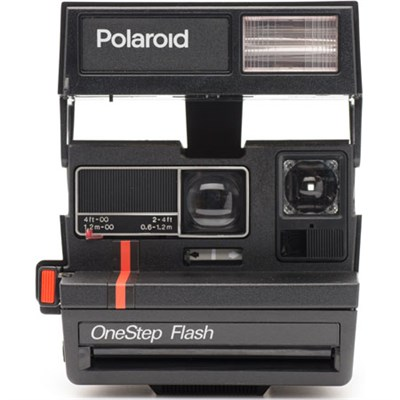 Polaroid 600 Instant Film Square Camera with automatic flash (Red Stripe) 1495
