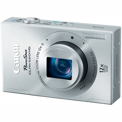 PowerShot ELPH 520 HS Silver 10.1 MP CMOS Digital Camera 12x Optical Zoom
