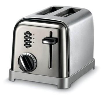 2-Slice Metal Classic Toaster (Black Chrome)