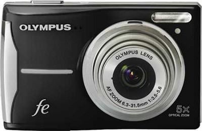 FE-46 12MP Digital Camera w/ 5x Optical Zoom, 2.7 inch LCD Black - REFURBISHED