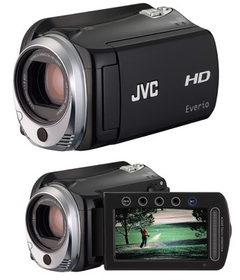 Everio GZ-HD500B - 80GB HDD and micro SD/SDHC card slot High-Def Camcorder