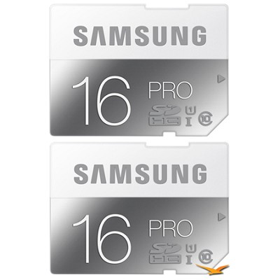 PRO 16GB Class 10 SDHC Memory Card 2-Pack (Up to 90MB/s)