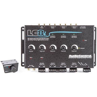 LC8i Black 8-Channel Line Output Converter with Auxiliary Input