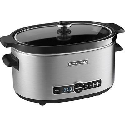 6-Quart Slow Cooker with Solid Glass Lid - KSC6223SS