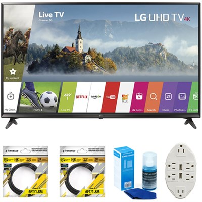 49` Super UHD 4K HDR Smart LED TV 2017 Model 49UJ6300 with Cleaning Bundle