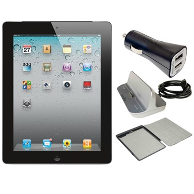iPad 2 16GB with Wi-Fi - Black (MC769LL/A) Refurbished w/ Power Bundle