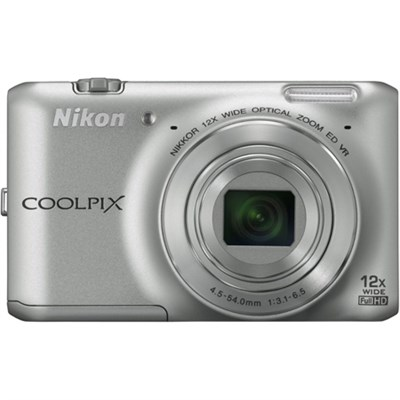 COOLPIX S6400 16 MP 12x Zoom Digital Camera - Silver (Factory Refurbished)