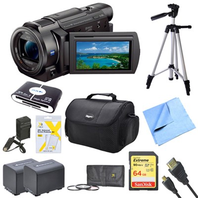 FDR-AX33/B - 4K Camcorder with 1/2.3` Sensor (Black) Deluxe Bundle
