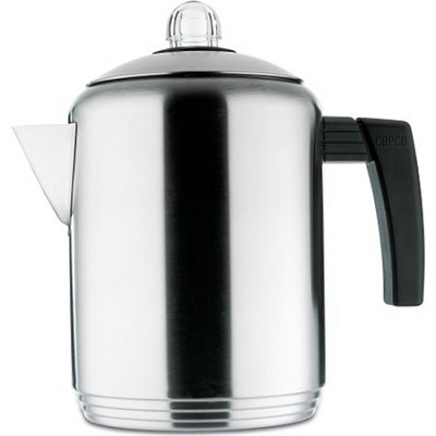 Brushed 4 to 8-Cup Stainless Steel Stovetop Percolator (2501-9807)