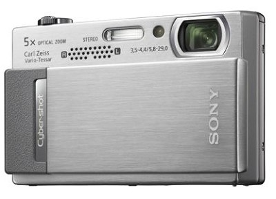 Cyber-shot DSC-T500 10.1 Megapixel Digital Camera - 3.5` Touchscreen (Silver)