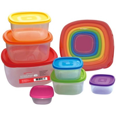 7 Piece Colorful Storage Container Set with Lids