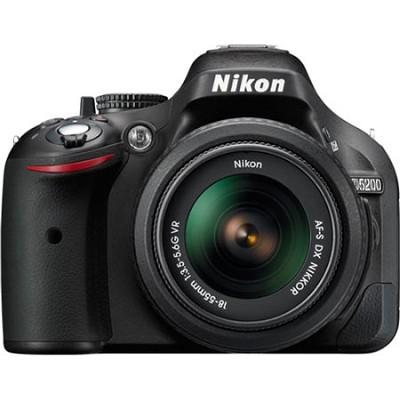 D5200 24.1MP DSLR Camera with 18-55mm VR Lens Kit - Factory Refurbished