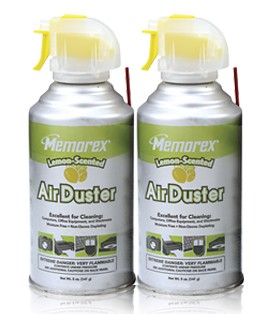 2-Pack Compressed Air Duster Canisters (Lemon Scent)