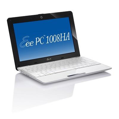 Eee PC Seashell 1008HA-MU17-WT 10.1-Inch White Netbook - 6 Hours of Battery Life