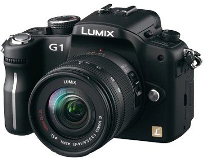 G1-12.1MP SLR Digital C.Black) w/ Lumix G Vario 14-45 mm f/3.5-5.6 - REFURBISHED