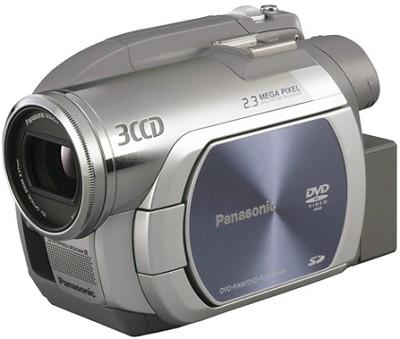 VDR-D250 - 3CCD DVD Camcorder, 10x Zoom, 2.3 MP Still, 2.7` LCD- Refurbished